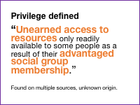 Slide 3 - Privilege defined