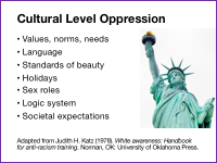 Slide 7 - Cultural Level Oppression