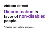 Slide 8 - Ableism defined