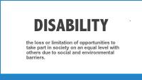 Slide 5 -emerging definition of disability