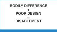 Slide 6 - bodily difference + poor design = disablement