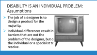 Slide 7 - disability as an individual problem