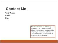 Slide 7 - Contact Me Slide
