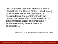 Slide 3 - Section 504 quote