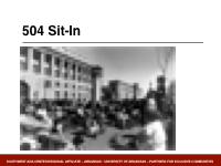 Slide 4 - 504 sit-in photo