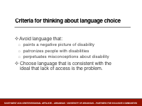 Slide 3 - Criteria for thinking about language choice
