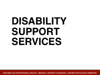 Slide 10 - Disability Support Services