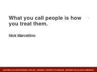 Slide 12 - Marcellino quote