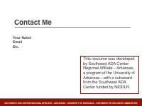 Slide 13 - Contact me slide