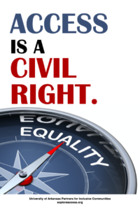 Access is a Civil Right Poster. Full description in text.