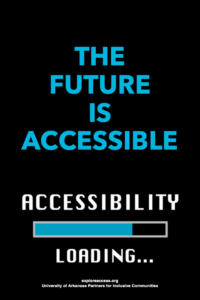 The future is accessible. Accessibility loading with update bar at about 70%
