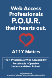 Web Access Professionals Poster. Full description in text.